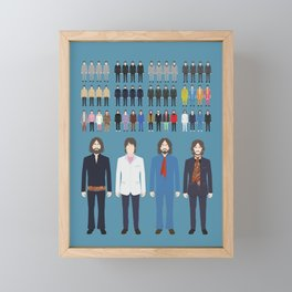 The Outfits of the Fab Four Framed Mini Art Print