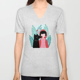 Red Riding Hood and the Wolf Unisex V-Neck