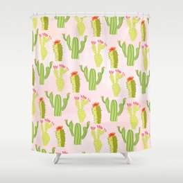 Cactus conference Shower Curtain