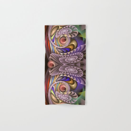 In Motion, colourful fractal abstract Hand & Bath Towel