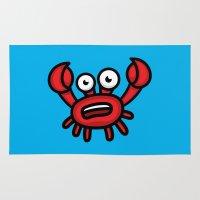 luigi Area & Throw Rugs featuring Crab Luigi by leon-design