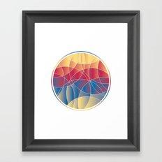 Sunset Curves Framed Art Print
