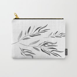 Eucalyptus Branches II Black And White Carry-All Pouch