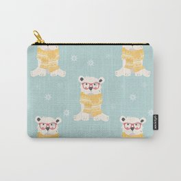 Polar bear pattern 002 Carry-All Pouch