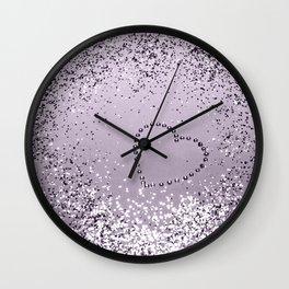 Sparkling LAVENDER Lady Glitter Heart #1 (Faux Glitter) #decor #art #society6 Wall Clock