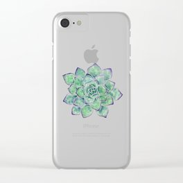 For the Love of Succulents Clear iPhone Case
