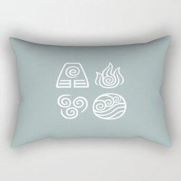 Bending All Four Elements – Water Rectangular Pillow