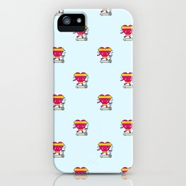 My heart goes faster for you pattern iPhone Case