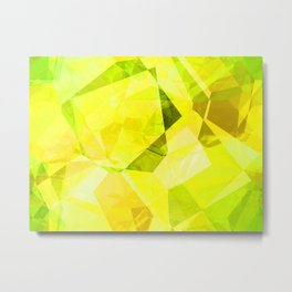 Pale Yellow Poinsettia 1 Abstract Polygons 1 Metal Print