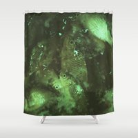 pisces Shower Curtains featuring Pisces by Elika