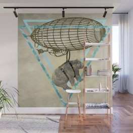 The bear who wanted to fly  Wall Mural