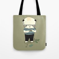 band Tote Bags featuring band aid by Maria Alliaud