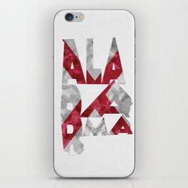 Alabama Typographic Flag Map iPhone Skin