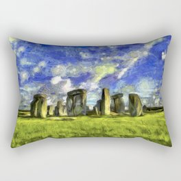 Stonehenge Vincent Van Gogh Rectangular Pillow