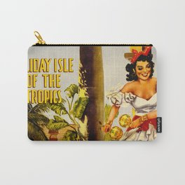 Cuba Holiday Isle of the Tropics Carry-All Pouch