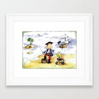 pirate Framed Art Prints featuring Pirate by LolMalone