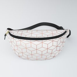 Gold Cubes Fanny Pack