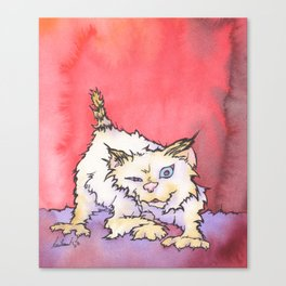 Scream the Cat Canvas Print