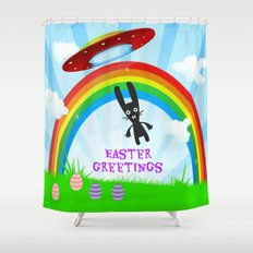 Easter Greetings Shower Curtain