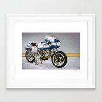 ducati Framed Art Prints featuring Ducati 750SS by pixelsandwheels
