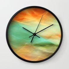 Abstract Art II Blue/Black/Green/Red Wall Clock
