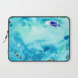 One summer day || watercolor Laptop Sleeve