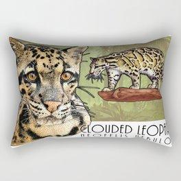 Clouded Leopard Rectangular Pillow