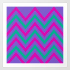 Chevron Berry Blast Art Print