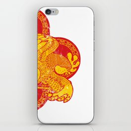 Rooster fire iPhone Skin