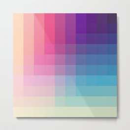 Tsuchinoko - Colorful Decorative Abstract Art Pattern Metal Print
