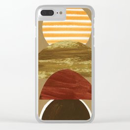 Burnt Hills Sunset Clear iPhone Case