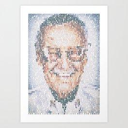 Stan Lee. Art Print