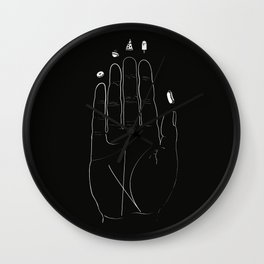 Food Palmistry Wall Clock