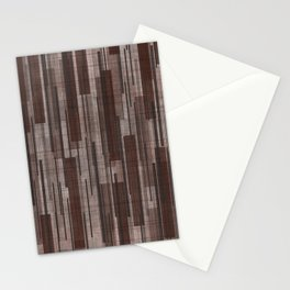 Brown Line Grid Stationery Cards