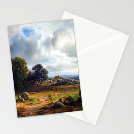 Christian Ernst Bernhard Morgenstern Landscape with a Flock of Sheep Stationery Cards