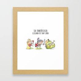 LA FANTÀSTICA LLEGENDA DE SANT JORDI Framed Art Print