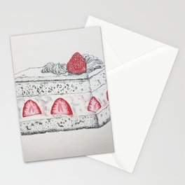 Strawberry Cake -- Painstaking Pastry Stationery Cards
