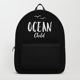 OCEAN CHILD HAND WRITTEN BLACK AND WHITE Backpack