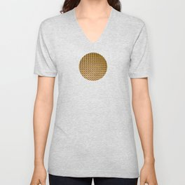 Gold and wood carving pattern Unisex V-Neck