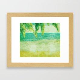 BEACH Pop Art Framed Art Print