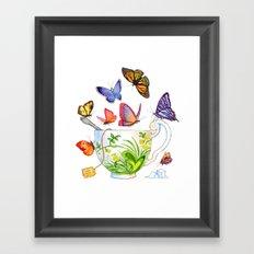 Butterfly Tea Framed Art Print