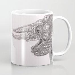 Happy Chameleon (pen and ink) Coffee Mug