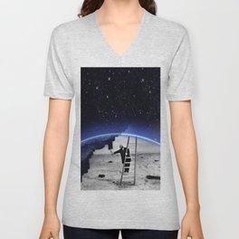 Peindre le ciel Unisex V-Neck