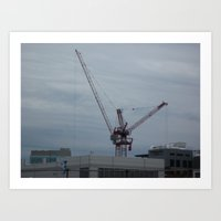 crane Art Prints featuring Crane by Kammy Nature Prints