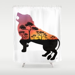Bold As A Lion Shower Curtain