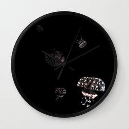 BluePink JellyFish Wall Clock