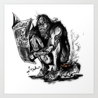 sasquatch Art Prints featuring SaSQUATch by Is It Moist?