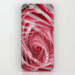Pink Rose Spiral iPhone Skin