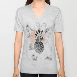 Marble Pineapple 053 Unisex V-Neck