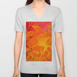 Poppy Flowers in Sunset Colors #decor #society6 #buyart Unisex V-Neck